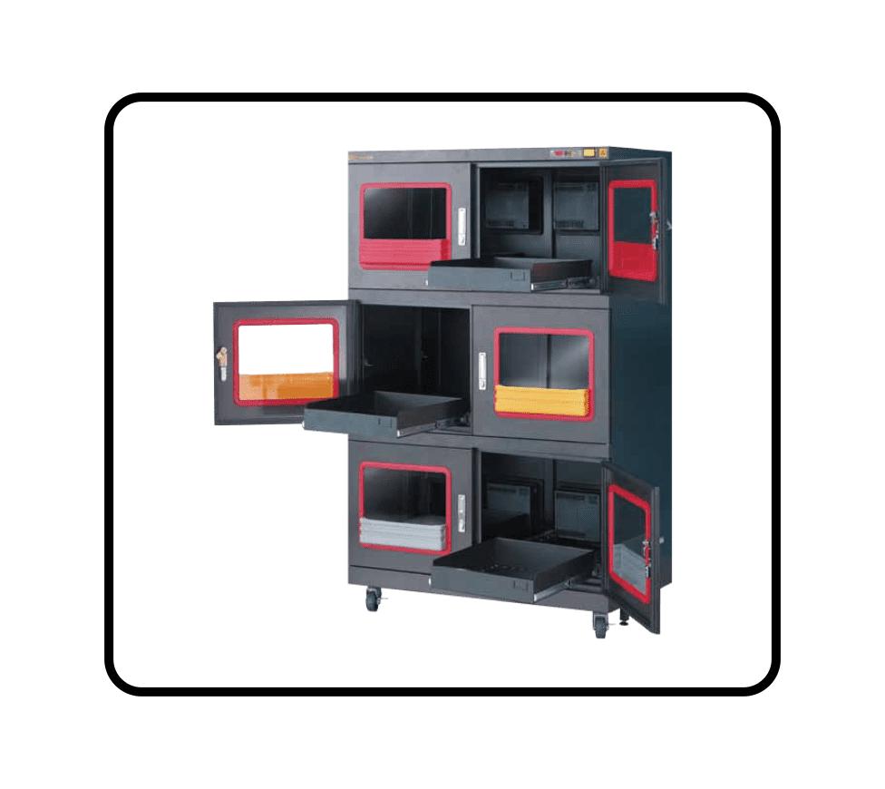 F1B - 01%RH Dry Cabinet - Sliding Drawer Option - smtdryboxes