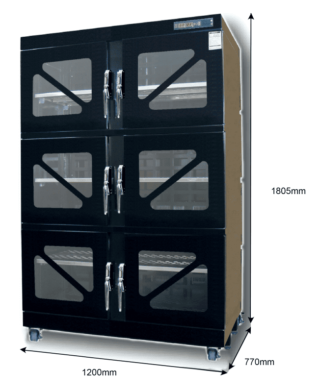 T60W 1200 - 1%RH - 60C Dry Cabinet   Capacity: 833L
